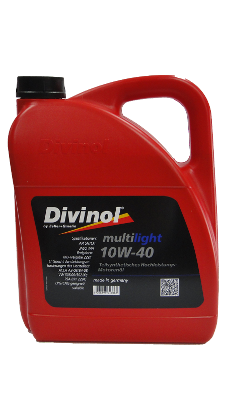 שמן מנוע 5‏ליטר Divinol Multilight SAE 10W40 - תמונה